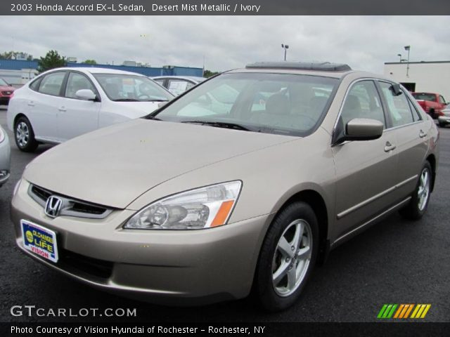 desert mist metallic 2003 honda accord ex l sedan ivory interior vehicle. Black Bedroom Furniture Sets. Home Design Ideas