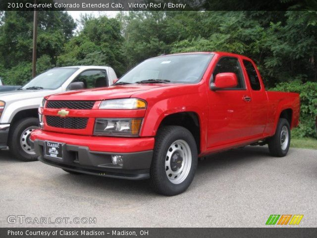 victory red 2010 chevrolet colorado extended cab ebony. Black Bedroom Furniture Sets. Home Design Ideas