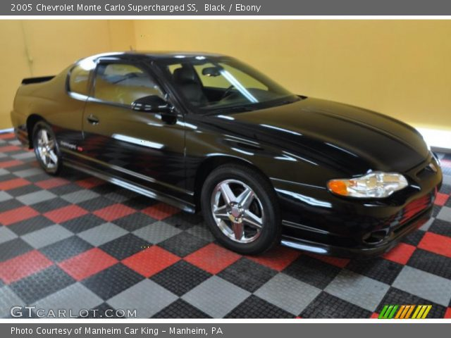 black 2005 chevrolet monte carlo supercharged ss ebony interior vehicle. Black Bedroom Furniture Sets. Home Design Ideas