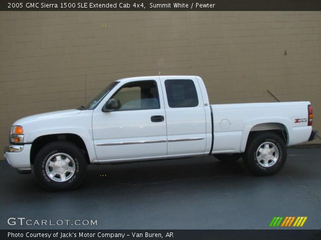 summit white 2005 gmc sierra 1500 sle extended cab 4x4 pewter interior. Black Bedroom Furniture Sets. Home Design Ideas
