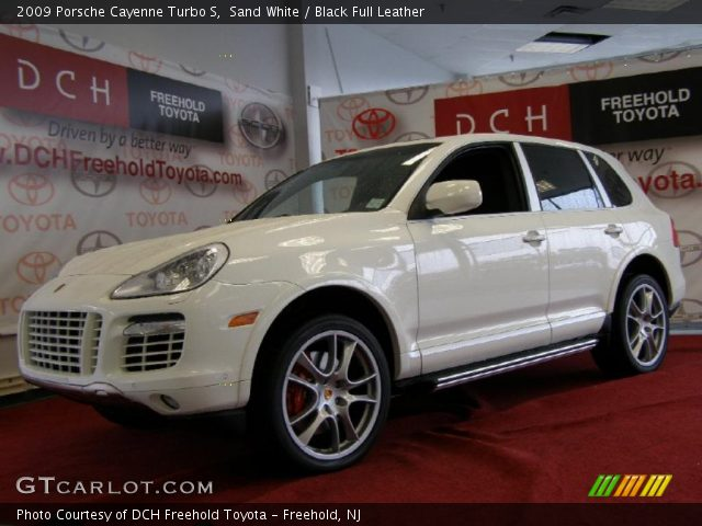 sand white 2009 porsche cayenne turbo s black full leather interior vehicle. Black Bedroom Furniture Sets. Home Design Ideas