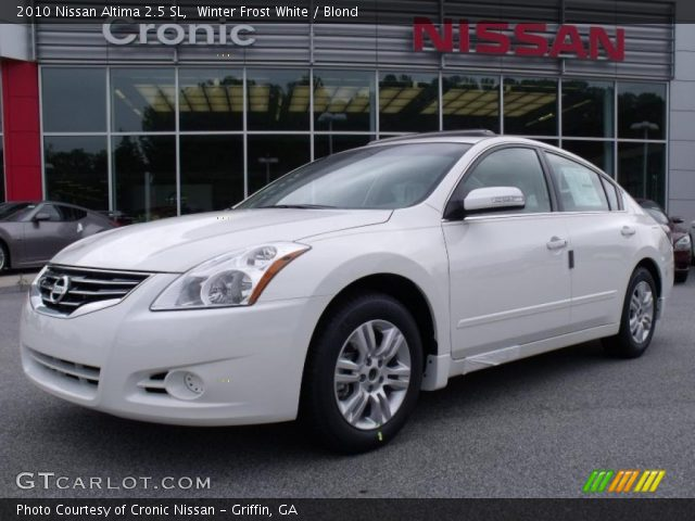 winter frost white 2010 nissan altima 2 5 sl blond interior vehicle archive. Black Bedroom Furniture Sets. Home Design Ideas