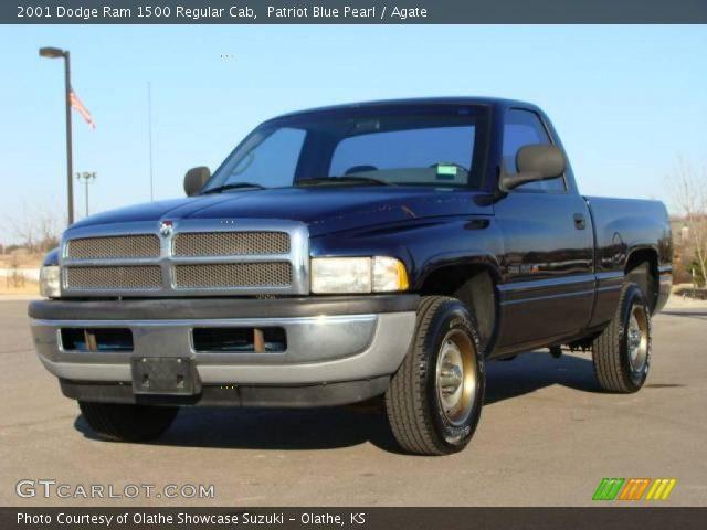 Patriot Blue Pearl 2001 Dodge Ram 1500 Regular Cab Agate Interior Vehicle