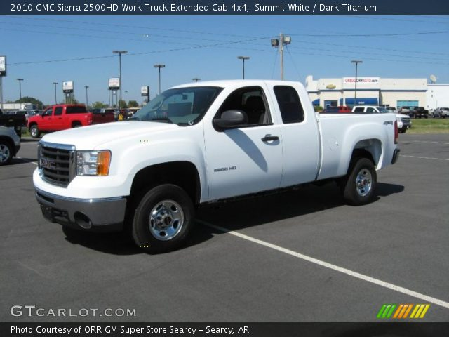 summit white 2010 gmc sierra 2500hd work truck extended. Black Bedroom Furniture Sets. Home Design Ideas