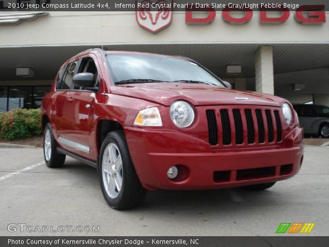 2010 Jeep Compass Latitude 4x4 in Inferno Red Crystal Pearl