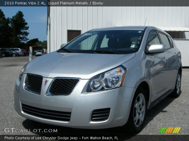 2010 Pontiac Vibe 2.4L in Liquid Platinum Metallic