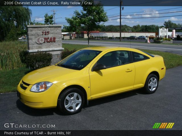 Rally Yellow 2006 Chevrolet Cobalt Ls Coupe Gray Interior Gtcarlot Com Vehicle Archive 35427593