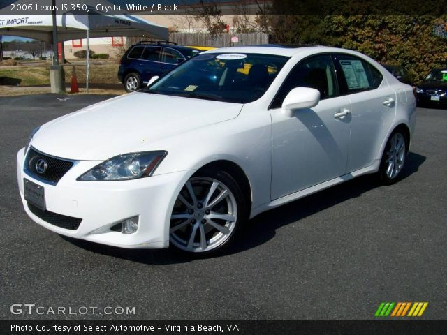 Crystal White 2006 Lexus Is 350 Black Interior Vehicle Archive 3515064