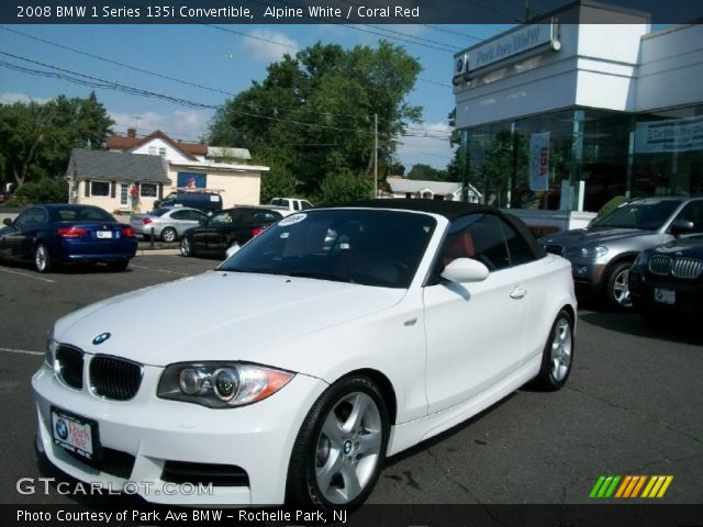 Alpine White 2008 Bmw 1 Series 135i Convertible Coral Red Interior Vehicle