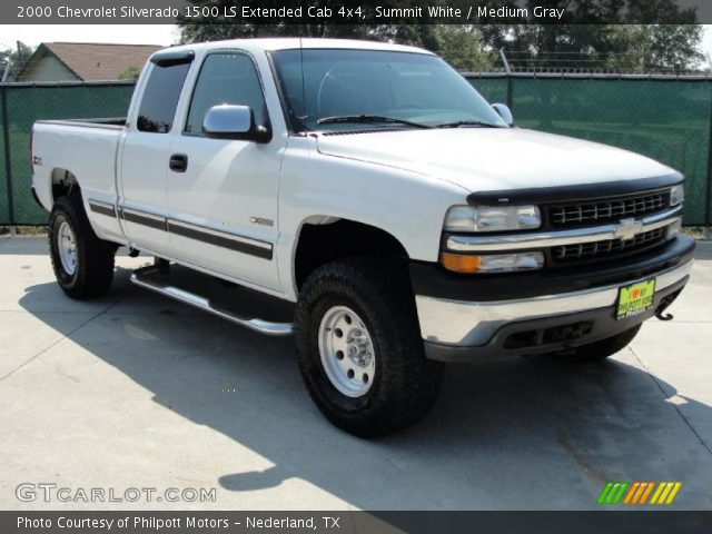 summit white 2000 chevrolet silverado 1500 ls extended cab 4x4 medium gray interior. Black Bedroom Furniture Sets. Home Design Ideas