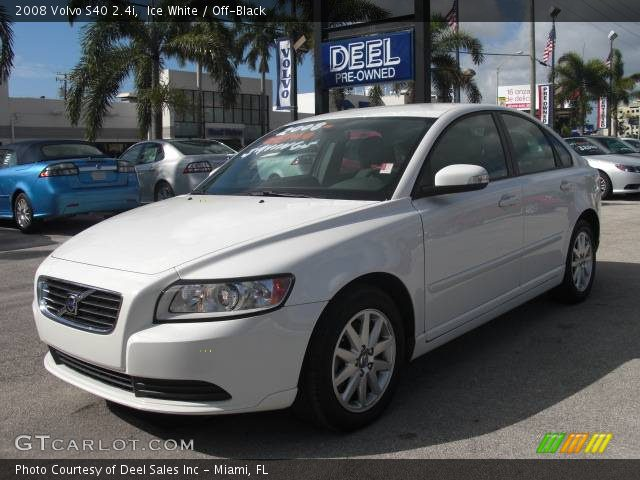 ice white 2008 volvo s40 off black interior vehicle archive 353847. Black Bedroom Furniture Sets. Home Design Ideas