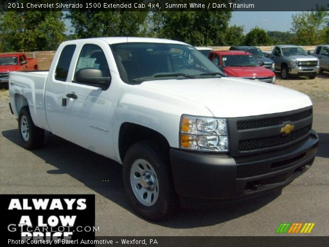 summit white 2011 chevrolet silverado 1500 extended cab. Black Bedroom Furniture Sets. Home Design Ideas