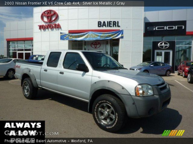 silver ice metallic 2003 nissan frontier xe v6 crew cab. Black Bedroom Furniture Sets. Home Design Ideas