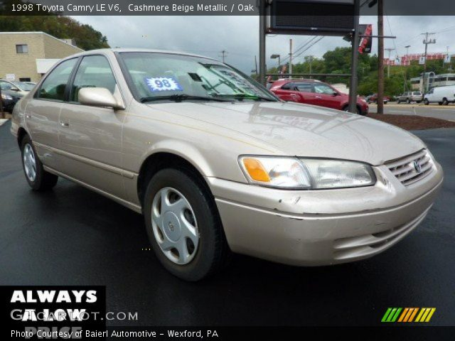 cashmere beige metallic 1998 toyota camry le v6 oak interior vehicle. Black Bedroom Furniture Sets. Home Design Ideas