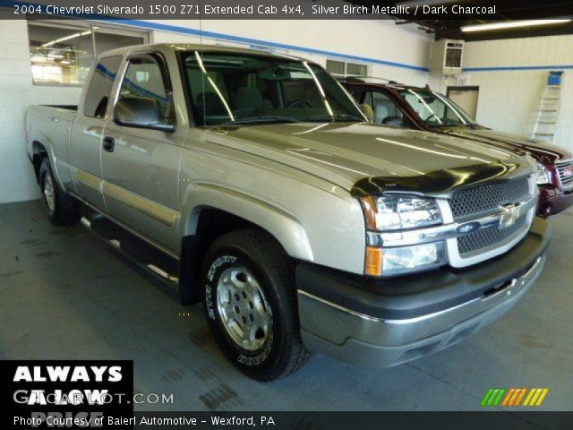 silver birch metallic 2004 chevrolet silverado 1500 z71. Black Bedroom Furniture Sets. Home Design Ideas