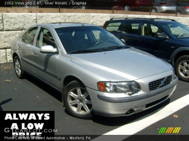 silver metallic 2002 volvo s60 2 4t graphite interior. Black Bedroom Furniture Sets. Home Design Ideas