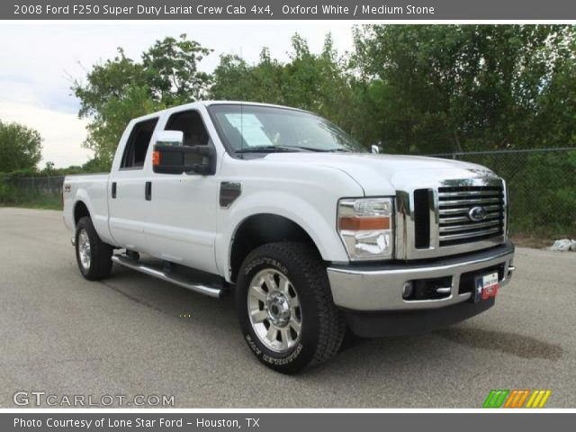 2008 Ford F250 For Sale Oxford White 2008 Ford F250 Super Duty Lariat Crew Cab 4x4 with Medium ...