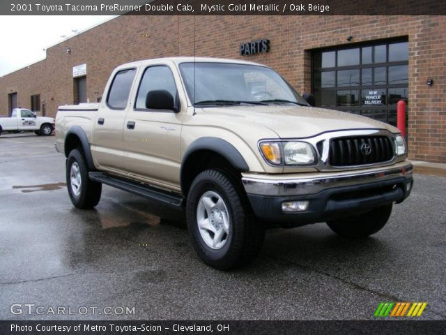 mystic gold metallic 2001 toyota tacoma prerunner double cab oak beige interior gtcarlot. Black Bedroom Furniture Sets. Home Design Ideas