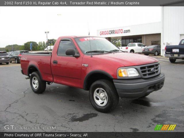 Toreador Red Metallic - 2002 Ford F150 XL Regular Cab 4x4 ...