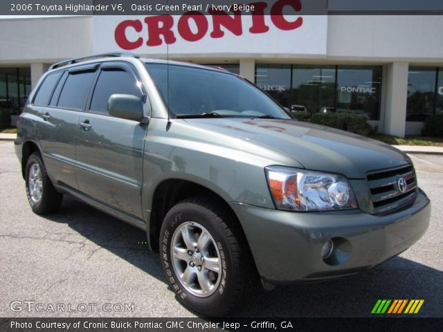 2006 Toyota Highlander Oasis Green Pearl
