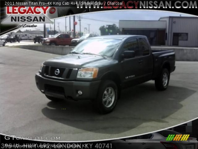 smoke gray 2011 nissan titan pro 4x king cab 4x4 charcoal interior vehicle. Black Bedroom Furniture Sets. Home Design Ideas