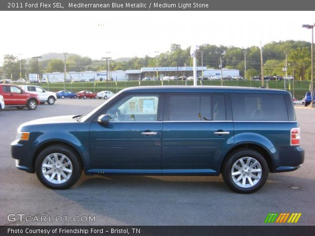 mediterranean blue metallic 2011 ford flex sel medium. Black Bedroom Furniture Sets. Home Design Ideas