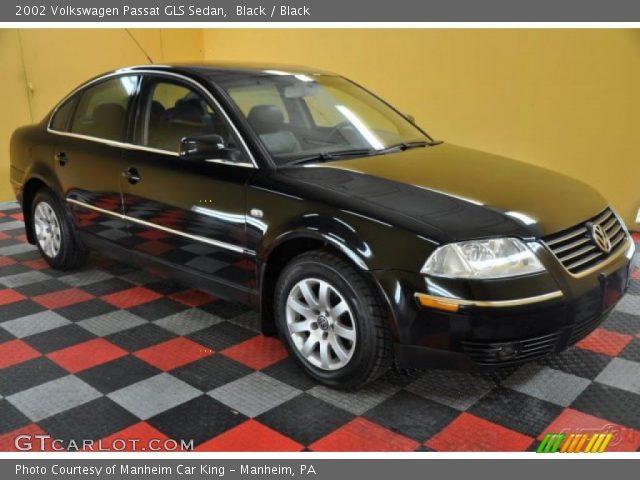 Black 2002 Volkswagen Passat Gls Sedan Black Interior Vehicle Archive 35956260