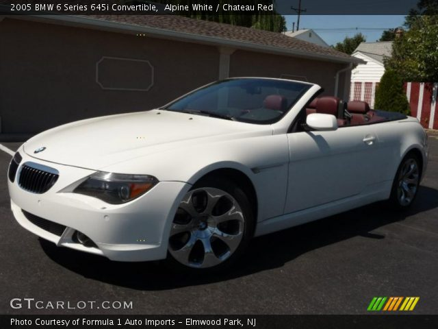 Alpine White 2005 Bmw 6 Series 645i Convertible Chateau Red Interior