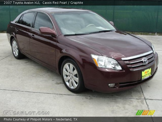 Cassis Red Pearl 2007 Toyota Avalon Xls Graphite Interior