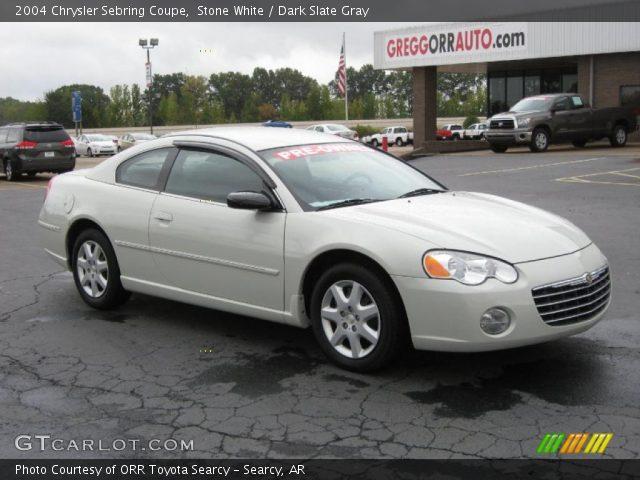 Stone White - 2004 Chrysler Sebring Coupe - Dark Slate Gray Interior ...