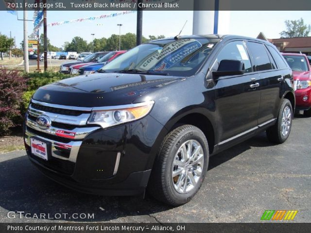 tuxedo black metallic 2011 ford edge sel charcoal. Black Bedroom Furniture Sets. Home Design Ideas