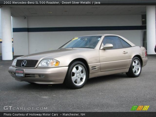 desert silver metallic 2002 mercedes benz sl 500 roadster java interior. Black Bedroom Furniture Sets. Home Design Ideas