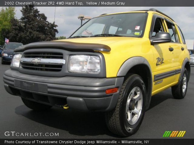 yellow 2002 chevrolet tracker zr2 4wd hard top medium. Black Bedroom Furniture Sets. Home Design Ideas