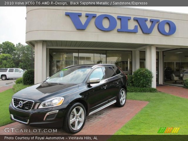 black sapphire metallic 2010 volvo xc60 t6 awd r design. Black Bedroom Furniture Sets. Home Design Ideas