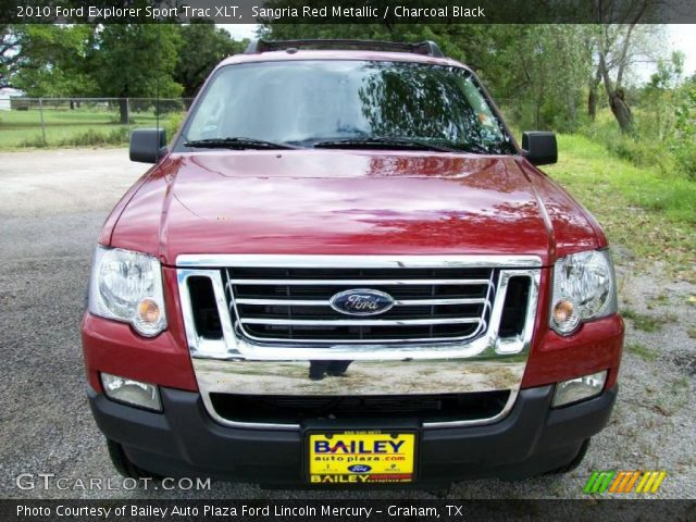 sangria red metallic 2010 ford explorer sport trac xlt charcoal black interior gtcarlot. Black Bedroom Furniture Sets. Home Design Ideas