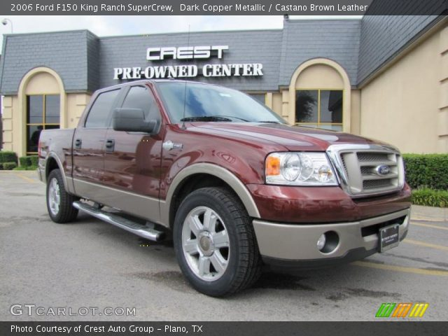dark copper metallic 2006 ford f150 king ranch supercrew castano brown leather interior. Black Bedroom Furniture Sets. Home Design Ideas