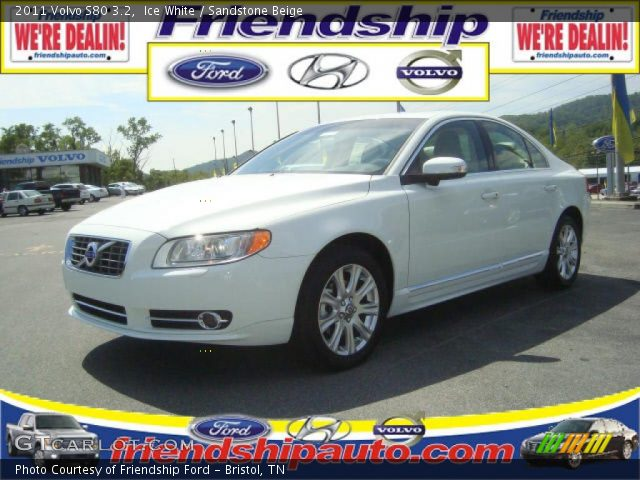 ice white 2011 volvo s80 3 2 sandstone beige interior. Black Bedroom Furniture Sets. Home Design Ideas