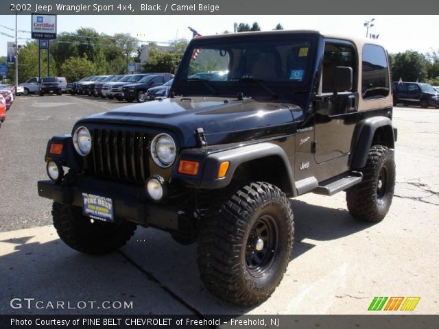 black 2002 jeep wrangler sport 4x4 camel beige. Black Bedroom Furniture Sets. Home Design Ideas