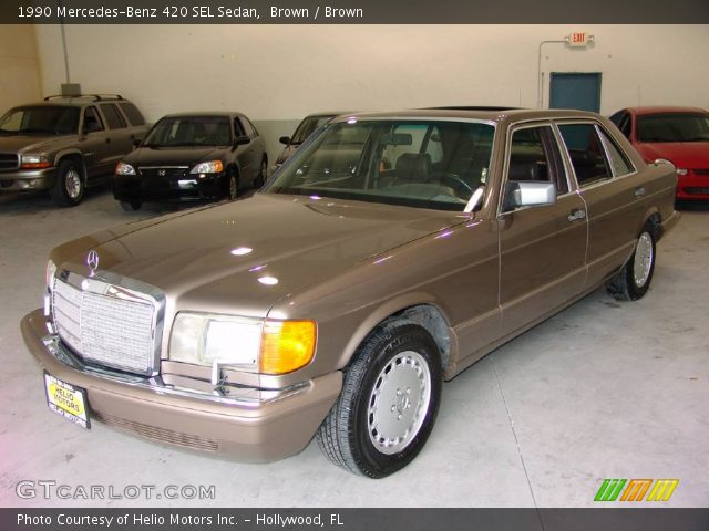 1990 Mercedes-Benz 420 SEL Sedan in Brown