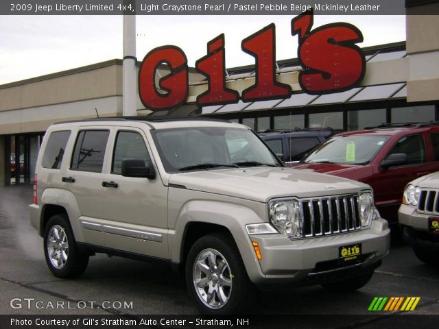 Light Graystone Pearl 2009 Jeep Liberty Limited 4x4 Pastel Pebble Beige Mckinley Leather