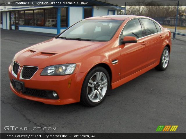 Ignition Orange Metallic 2008 Pontiac G8 Onyx Interior