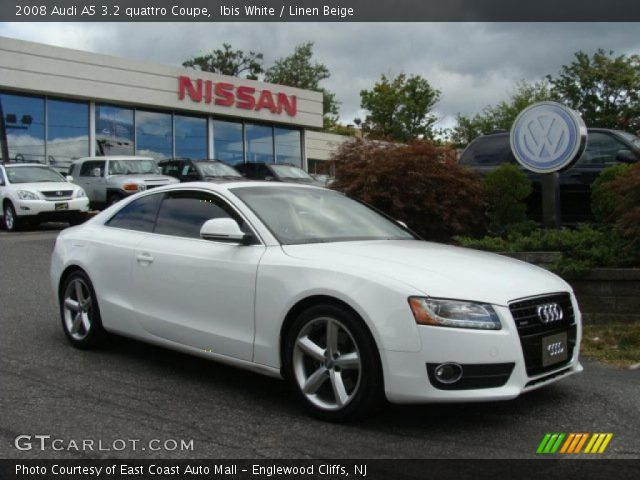ibis white 2008 audi a5 3 2 quattro coupe linen beige. Black Bedroom Furniture Sets. Home Design Ideas