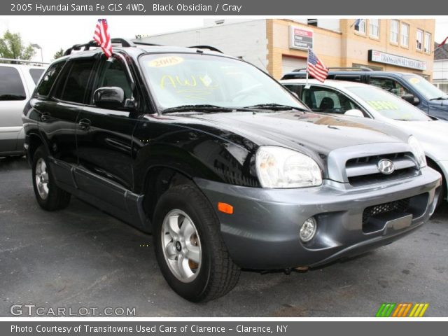 Black Obsidian 2005 Hyundai Santa Fe Gls 4wd Gray Interior Vehicle Archive