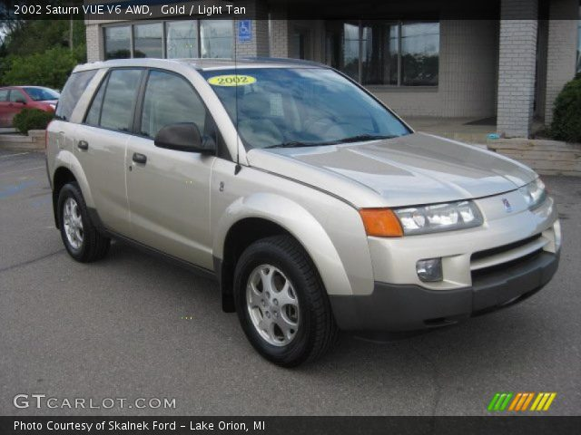 gold 2002 saturn vue v6 awd light tan interior. Black Bedroom Furniture Sets. Home Design Ideas