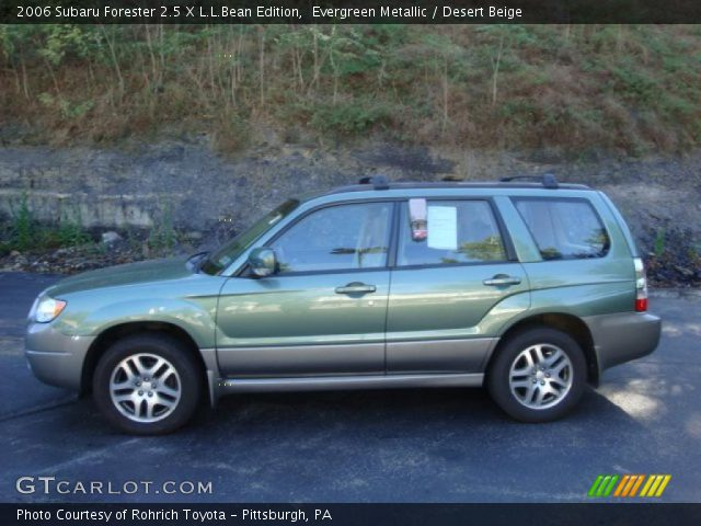 evergreen metallic 2006 subaru forester 2 5 x l l bean edition desert beige interior. Black Bedroom Furniture Sets. Home Design Ideas