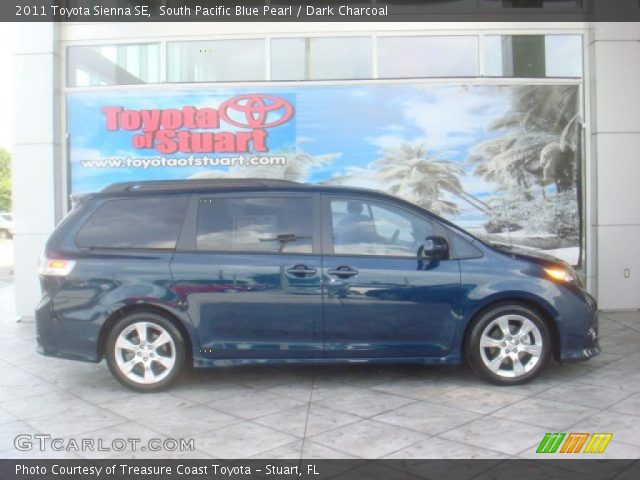 south pacific blue pearl 2011 toyota sienna se dark. Black Bedroom Furniture Sets. Home Design Ideas