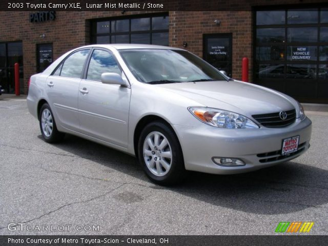 lunar mist metallic 2003 toyota camry xle stone interior vehicle archive. Black Bedroom Furniture Sets. Home Design Ideas