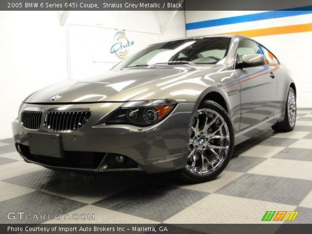 stratus grey metallic 2005 bmw 6 series 645i coupe black interior vehicle. Black Bedroom Furniture Sets. Home Design Ideas