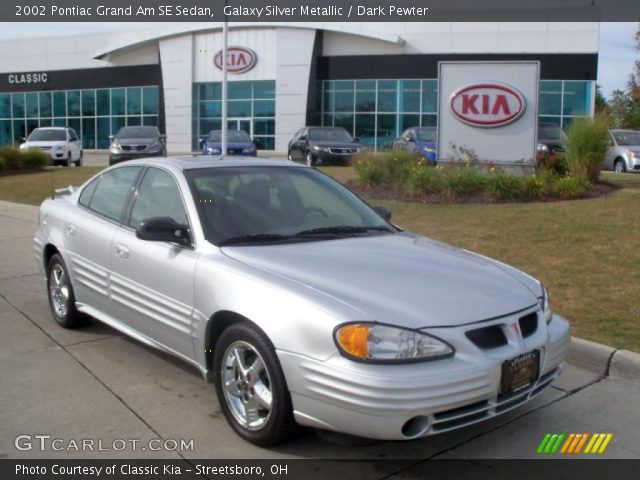 galaxy silver metallic 2002 pontiac grand am se sedan dark pewter interior. Black Bedroom Furniture Sets. Home Design Ideas