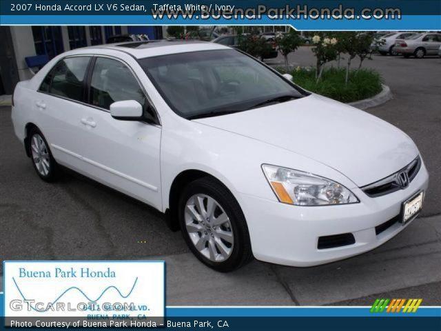 Taffeta white 2007 honda accord lx v6 sedan ivory for 2007 honda accord lx sedan